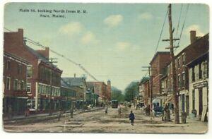 Saco ME Main Street Postcard ~ Maine