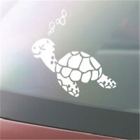 Sea Turtle Decal Car Window Tropical Ocean Hawaii Beach Laptop Sticker LD