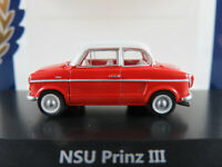 BoS 87270 NSU Prinz III (1960-1962) in rot/weiß 1:87/H0 NEU/OVP