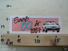 STICKER,DECAL SAAB 9000 SAAB 50 AIR 1987 CAR AUTO