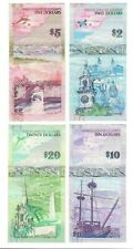 BERMUDA SET  of   2 - 5 - 10 - 20 DOLLARS USED