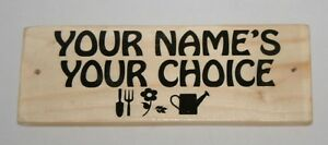 Personalised Name Words Picture Sign Plaque Outdoor Garden Shed Den Garage Shop