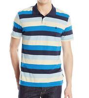 VOLCOM WOWZER Mens Graphic Surf Skate Street Tee Polo Collar Shirt T Blue NEW