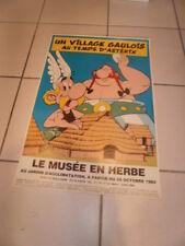 Astérix 1 Village Gaulois au temps d'Astérix Affiche pour le Musée en Herbe 1984