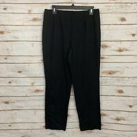 J Jill Black Ponte Knit Slim Leg Pull On Comfy Career Pants Medium Petite