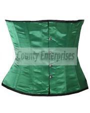 COMPLETO In acciaio steccato Shaper Vestaglia Cincher Taillen Girovita Slimming VERDE corsetto in Satin