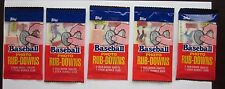 5 Sealed Packs of 1984 Topps Baseball Photo Rub-Downs Near Mint