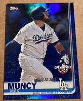 Max Muncy 2019 Topps Opening Day Blue Parallel Los Angeles Dodgers #67