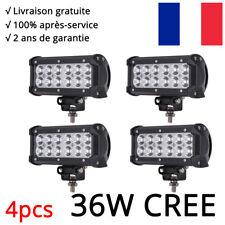 4x Barre à LED 36W phare de travail CREE Rampe Feux spot SUV 4x4 offroad 12V 24V