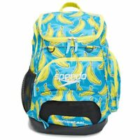 Speedo Teamster Backpack Blue/Yellow Banana Printed, 35L Swim bag, Swimming Back