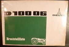 Deutz Schlepper D 10006 Ersatzteilkatalog