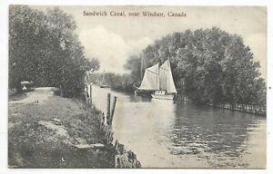 WINDSOR ONTARIO Sandwich Canal- Circa 1906