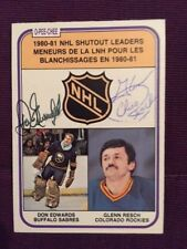 Don Edwards Glen Chico Resch 1981-2 OPC Autographed Signed Card #389