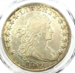 1802/1 Draped Bust Silver Dollar $1 Coin - Certified PCGS AU Details - Rare Date