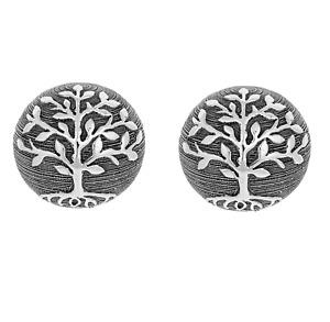 Tree of Life Pair Of Decorative Ornament Ceramic Gunmetal Balls Home Decor Gift