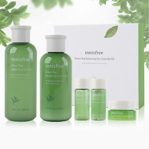 Innisfree Green Tea Balancing Korean Special Skin EX Care Toner Lotion Set