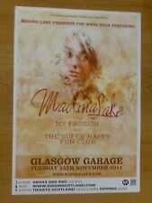 Madina Lake + My Passion - Glasgow nov.2011 tour concert gig poster