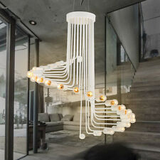 Large Chandelier Lighting Kitchen Pendant Light Bedroom Ceiling Light White Lamp