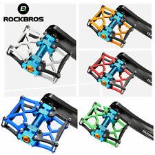 ROCKBROS Bike Pedals MTB Road Bike Platform Pedals Aluminum Alloy 9/16'' Spindle
