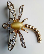Scorpion Crystal Brooch Pendant Necklace option Vintage Gold Tone Pin Broach