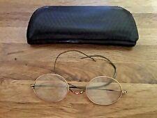 Antique Optical Golden ( tested) Frame Glasses with Metal Case .