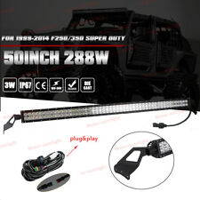 "50"" Inch LED Light Bar + Roof Mounting Bracket For 1999-2014 F250/350 Super Duty"