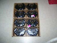 Lot of 8 Halloween Black Bat  shaped candles                          2029