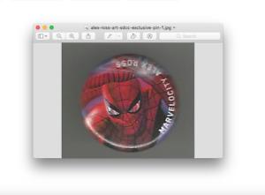 2018 SDCC San Diego Comic Con Alex Ross Art Pin / Button ~ Amazing Spiderman
