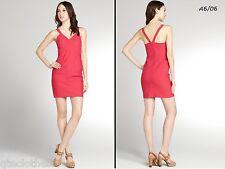 LAUNDRY $325 NEW Pink Banded Cutaway Stretch Travel Sheath Clubwear Dress 12 QCO