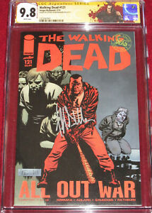 CGC SS Walking Dead # 121 signed by JEFFREY DEAN MORGAN!  Negan & Lucille cover!