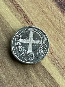 2010 rare LONDON CAPITAL CITIES  Old Round £1 Pound coin
