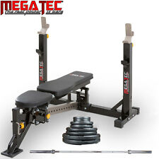 MEGATEC Bench Press PACKAGE // 75kgs Olympic Weights Barbell Home Gym Adjustable