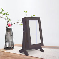 Jewellery Cabinet Organiser Armoire Storage Box Countertop Stand & Vanity Mirror
