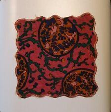 Vintage Swinging 60s Mod Pocket Square Handkerchief Floral Print Retro Pattern