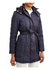 Big Chill Womens Belted Zigzag Quilted Coat XL