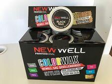 NEW! 1 B0X 18 x 100 ml  New Well Black Colour Wax , Temporary Colour Hair Wax