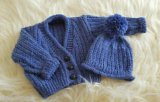 Baby Knitting Pattern 61a 'Adan in Aran'  TO KNIT Toddler Boys Cardigan and Hat