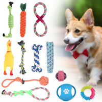 12X Dog Rope Toys Kit Tough Strong Chew Knot Ball Pet Puppy Bear Cotton Toy Bulk