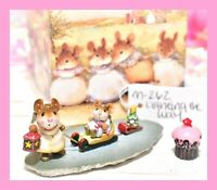❤️Wee Forest Folk M-262 Lighting the Way Christmas RETIRED Angel Mouse Sled❤️