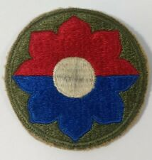 Vintage WW2 U.S. Army 9TH Infantry Division Patch