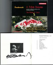 Krzysztof PENDERECKI Signiert A Polish Requiem The Dream of Jacob 2CD Gadulanka