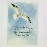 Vintage Blank Note Cards Flying Free Bird Stationary Greeting Card Lot Of 14