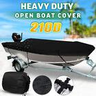 11.5ft-14.8ft Waterproof Boat Cover Marine Grade 210D Trailerable V-hull Fishing