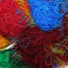 100g Saree Silk Fiber Multicolor Throwsters Abfall fuer das Filzen, Spinnfaser