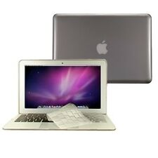 """3 in 1 Crystal GREY Hard Case for Macbook Air 11"""" A1370 + Key Cover + LCD Screen"""