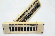 Two Chinese mathematics tool abacus soroban, 12 rods