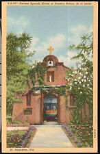 ST AUGUSTINE FL Spanish Shrine Nuestra Senora de la Leche Vintage Postcard Old