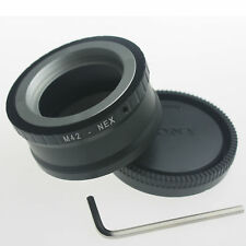 Metal M42 to for Sony E mount Adapter Screw Lens NEX 5 NEX-7 NEX-C3 +rear cap