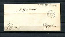 """Württemberg - Postablage Einzeiler 1871 """"Unterschneidheim""""   (#547)"""
