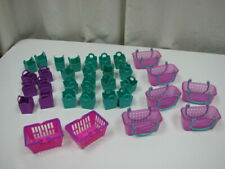 Large LOT Shopkins Empty Shopping Bags & Baskets Party Favors Handles